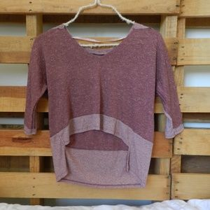 3/4 Sleeve Crop Top